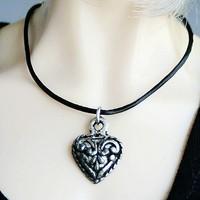 Necklace Outfit 1/3-1/4 BJD Dollfie Sliver Metal heart