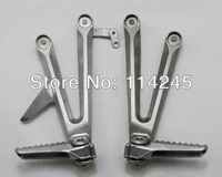 Motorcycle parts Silver Rear Passenger Foot Pegs Bracket For Honda CBR1000RR 2004 2005 2006 2007