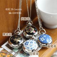 Small celadon series of white ceramic pocket watch necklace table white k pocket watch necklace 4