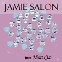 Crystal 3D Nail Art Decorations Heart Cut Diamonds & Gemstone Shape Design 100pcs/lot Size: 5mm Heart Cut