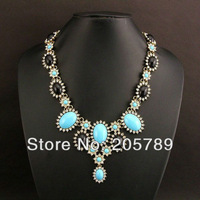 New arrival fashion full rhinestone acrylic stone pendant women's elegant party necklace free shipping