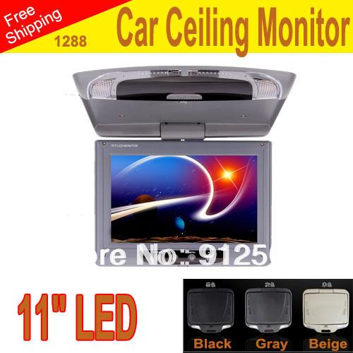 "car Monitor 11"" inches LED digital screen Car Roof Mounted Monitor car ceiling monitor,flip down monitor 1288(China (Mainland))"