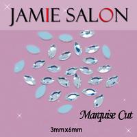 Crystal 3D Nail Art Decorations Marquise Cut Diamond & Gemstone Shape Design Size:3*6mm Marquise Cut