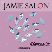 Crystal 3D Nail Art Decorations Diamond Cut Rhinestones & Gemstone Shape Design 100pcs/lot Size:4*6mm Diamond Cut