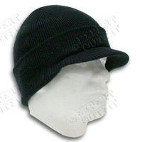 men's winter knit visor cap skull hat ski beanie