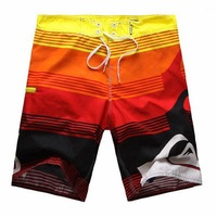 2013 New Mens Surf Board Shorts Yellow Black and Orange Patchwork Boardshorts Beach Swim Pants Mens Beach Wear S/M/L/XL/XXL