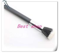 Free shopping .Environmental Flat Top Buffer Makeup Bamboo Cosmetic Foundation Powder Brush(2pcs/lot)