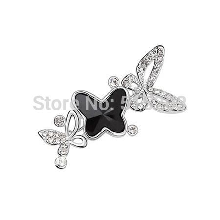Fashion brooch Austria Crystal honey butterfly brooch jewelry FREE SHIPPING