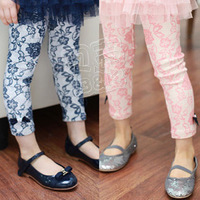 girls  legging free shipping new arrivel 2015 spring  vintage girls lace clothing baby trousers legging
