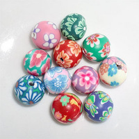 Free shipping DIY accessories polymer clay flower 10mm polymer clay beads blended-color Sold per 100pcs