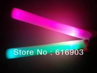 free shipping 150pcs/lot 7 function 4*40cm multi color chang led foam stick foam glow stick  for Christmas