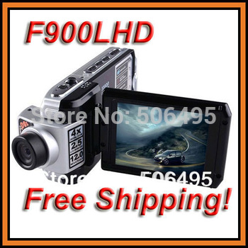 "F900LHD Car DVR 2.5"" TFT 4 x Digital Zoom HD1080P 720P Car DVR Recorder USB2.0 Night Vision Russian Language Free shipping"