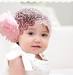 Free shipping Baby hair bands baby female child hair accessory big flower lace wide ribbon(China (Mainland))