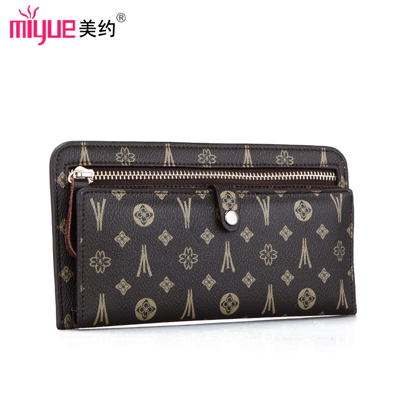 Free Shipping Discount 2013 long design wallet purse elegant day clutch women's vintage print bags 6.5(China (Mainland))