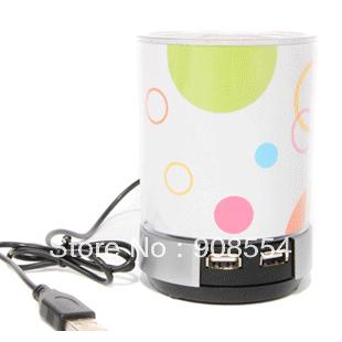 Free shipping Audio usb high speed 4 hub pen hub speaker computer splitter laptop speaker(China (Mainland))