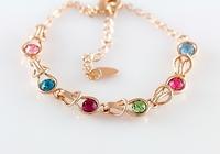 Hight Quality Austrian Crystal Bracelet Brilliant 18K Gold Plated Bracelet Woman Bangles Fashion Jewelry Accessories