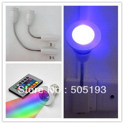 E27 dream color RGB 3W Led Spot Lamp AC85-265V+Remote controller+E27 Socket Plug, free shipping(China (Mainland))