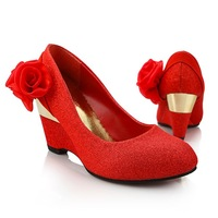 Wedding shoes wedding shoes gold red wedding shoes the bride wedding shoes sw7340 50