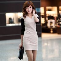 Clothing Bell 2013 spring Women basic slim hip one-piece dress long-sleeve spring one-piece dress qo2 o