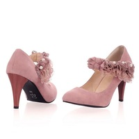 Spring and summer lace flower women's high-heeled shoes elegant single shoes ss 2012f-1 40