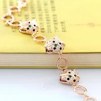 Domineering Leopard Head Fashion Bracelet 18K Gold Bracelet Rhinestone Bracelet Wowan Luxury Jewelry Accessories ITALINA Brand