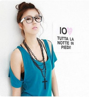 Min Order 15$ Free Shipping 2013 Newest Trendy Multi-storey Chain Cross Necklaces Good Quality Wholesale Hot HG0582