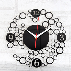 FREE SHIPPING Ultralarge mute acrylic fashion brief art wall clock table crystal clock circle(China (Mainland))