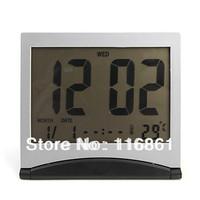 Flip-up Digital Alarm Clock + Calendar + Thermometer