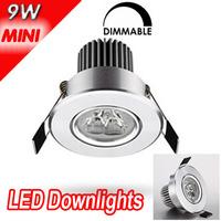 HOT!!! 4pcs downlights leds dimmable  3w 255LM sandblasting aluminium led downlight celing light cool/warm white