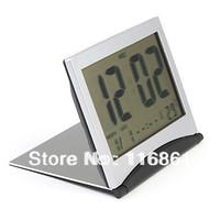 16PCS Free shipping Flip-up Digital Alarm Clock + Calendar + Thermometer
