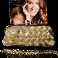 SALE Shining fashion full rhinestone banquet bag day clutch bag diamond bag evening bag SHIPPING