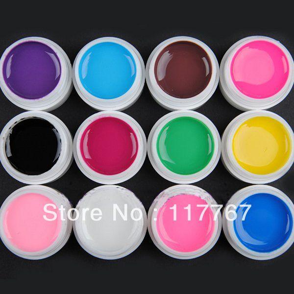 Hotsale Fashion SOLID PURE UV Gel Builder Nail Art Extension DIY Sets 600250(China (Mainland))
