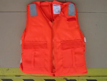 Reflective life vest swimming pool swimwear zipper style orange life vest life jacket