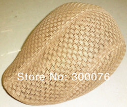 SUMMER Peaked Beret Newsboy Visor Hat Cap Cabbie beret Gatsby Flat net breath(China (Mainland))