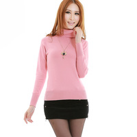 2013 spring turtleneck sweater women's all-match fashion thermal turtleneck long-sleeve 2705 basic shirt