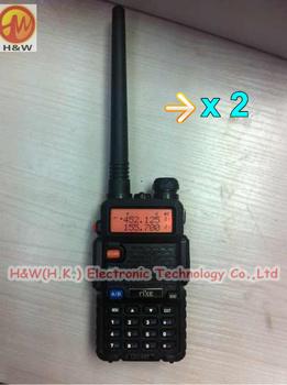 2 x NEW VERSION RK-UV6R dualband dual display intercom FM transceiver 5W high power +1800mAh Li-ion battery walkie talkie