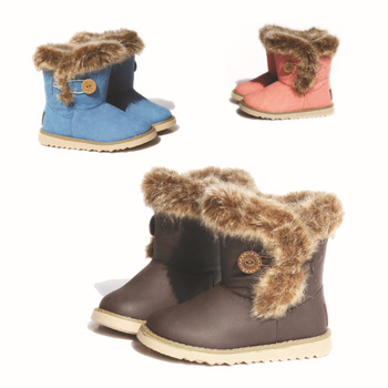 2012 cowhide winter child cotton-padded shoes children parent-child shoes child snow boots boys girl boots free ship