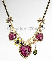 Minimum order request $9.99 bets8y  (U can mix order) johns0n romantic leopard grain heart Neckalce J01
