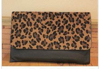 fREE SHIPPING NEW Women Girl Clutch Purse Leopard Envelope Shoulder Bag