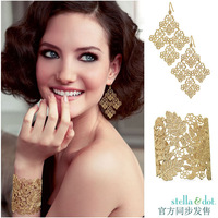 Free shipping fashion luxury sd gold cutout jewelry sets