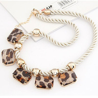 Min Order 15$ Free Shipping 2013 Newest Leopard Necklace Fashion Good Quality Wholesale Hot HG0596