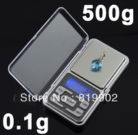 Mini Electronic Pocket 500g x 0.1g Jewelry Gold Coin Digital Scale Balance