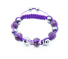 Fine Jewlery Shamballa Bracelet Fashion Jewelry Micro Pave CZ Disco Colour Beads Color Rope Shamballa Bracelets CCB009