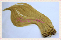 "Cheap chinese hair clip on hair extensions, straight chinese hair, 20"" hair extesions"
