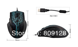 Lowest Price on Aliexpress Mouse Computer Notebook PC 3D Optical Mouse Wired Mice GAME MOUSE 3200dpi LED Lights(China (Mainland))