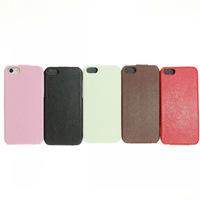 HK post free shipping Luxury Life-proof Leather Flip Hard Case For iphone 5 i5 Cell Phone Accessories+ dust plug gift