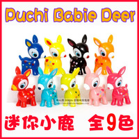 Puchi Babie Deer  Mini Little Deer dolls, Deer Toy Figures,9 pieces a set, Free Shipping