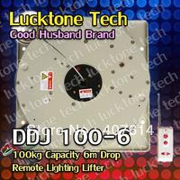 Chandelier Winch Lighting Lifter Remote Lighting Hoist Light Lift DDJ100-6(100kg Capability 6m drop 110--240V) Free Shipping