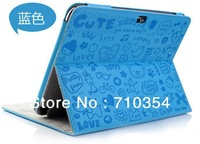 "Free Shipping Cute Magic Girl Leather case stand cover protective shell for Samsung Galaxy Tab 10.1"" N8000 N8010"