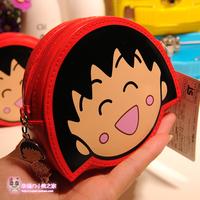 Cartoon smiley double faced zipper coin purse coin case female